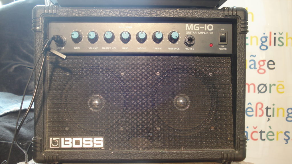 Boss MG-10 solid state amplifier