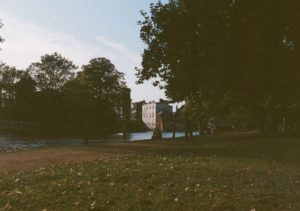 Half frame image of Christchurch Meadow Oxford on expired Kodacolor VR film