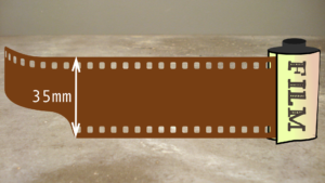 illustration of a 35mm roll of film