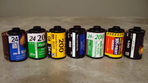 Examples of 24 exposure 35mm films