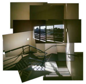 photomontage of a staircase